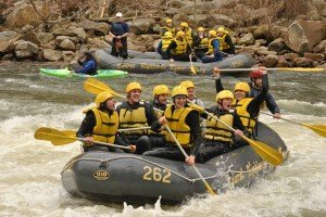 High-water Spring rafting on the Cheat River