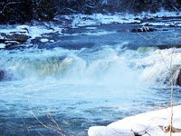 Snowy view of the Ohiopyle Falls