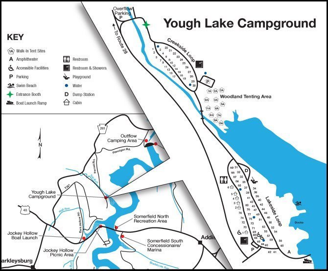 Yough Lake Campground Map
