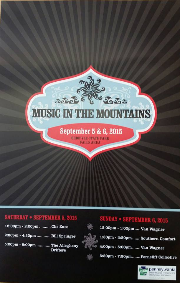 Music in the Mountains, September 5 & 6, 2015