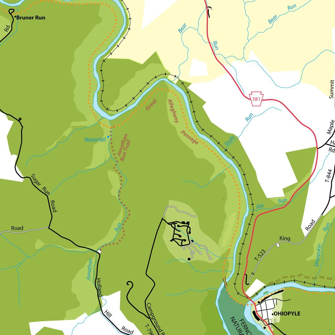 Trail Biking Map