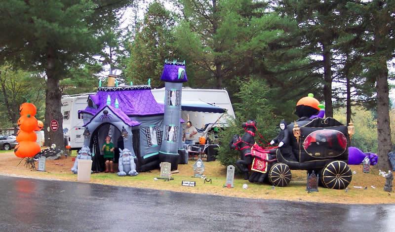 Halloween campsite