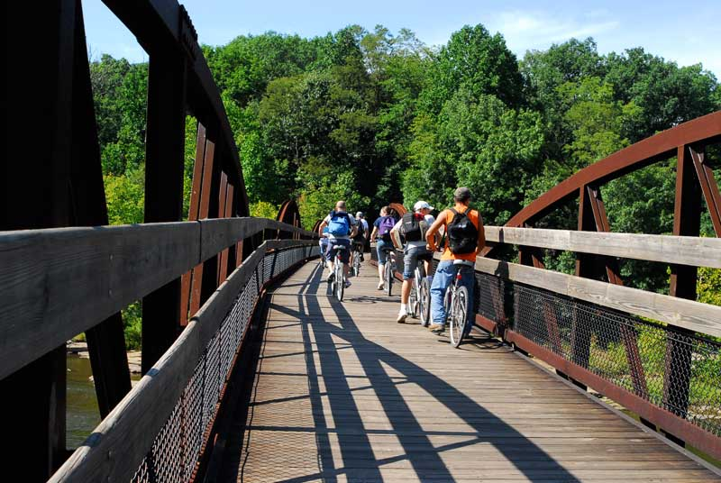 Trail biking bridge